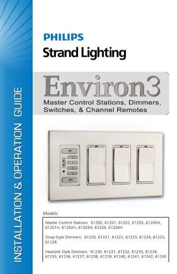 Environ 3 Wallbox Dimming System - Control ... - Strand Lighting