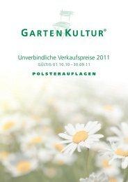 Unverbindliche Verkaufspreise 2011 - Strandkorb & Co.