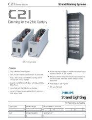 C21 Dimmer Modules - Strand Lighting