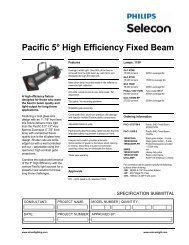 Pacific 5° High Efficiency Fixed Beam - Strand Lighting