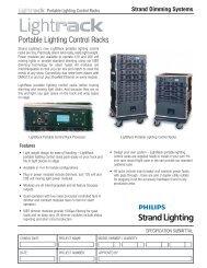 Portable Lighting Control Racks - Strand Lighting
