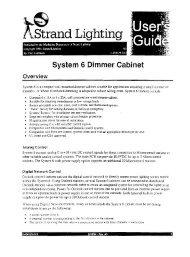System 6 Dimmer Cabinet _ - Strand Lighting