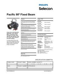 Pacific 90º Fixed Beam - Strand Lighting