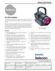 Selecon LED Fixtures PL3 LED Luminaire - Strand Lighting