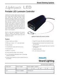 Portable LED Luminaire Controller - Strand Lighting