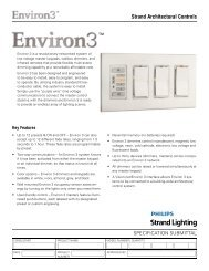 Strand Architectural Controls - Strand Lighting