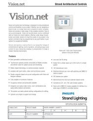 Vision.net - Strand Lighting