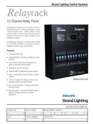 12 Channel Relay Panel - Strand Lighting
