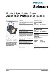 Product Specification Sheet Arena High ... - Strand Lighting