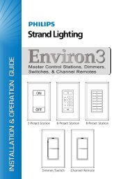 Environ 3 Master Control Stations - Strand Lighting