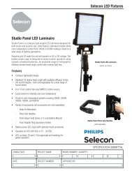 Selecon LED Fixtures Studio Panel LED Luminaire - Strand Lighting