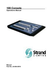100 Series Console - The Strand Archive