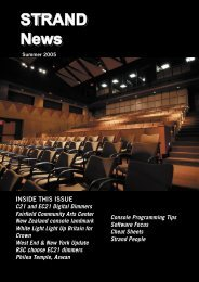 STRAND News STRAND News.pdf - Strand Lighting