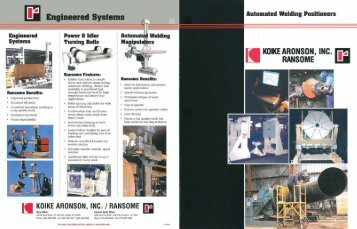 Ransome Welding Positioners - Koike