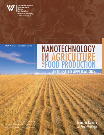 Nanotechnology in Agriculture and Food Production - Project on ...