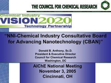 NNI-Chemical Industry CBAN - Nanowerk