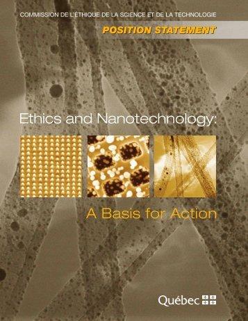 A Basis for Action - Commission de l'éthique de la science et de la ...