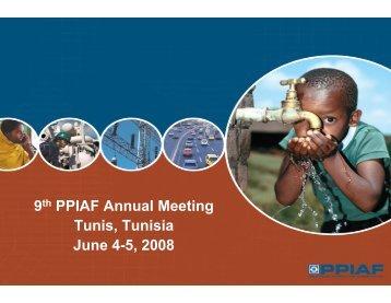9th PPIAF Annual Meeting Tunis, Tunisia June 4-5, 2008