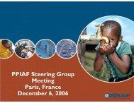 PPIAF Steering Group Meeting Paris, France December 6, 2006