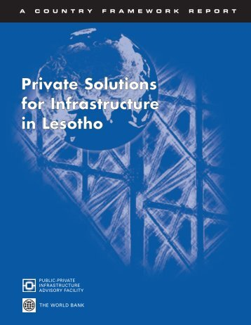 Private Solutions for Infrastructure in Lesotho - ISBN ... - ppiaf