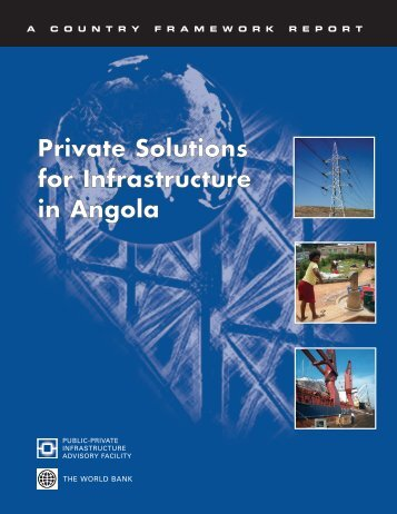 Private Solutions for Infrastructure in Angola - ISBN ... - ppiaf