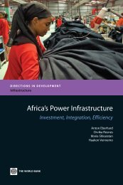 Africa's Power Infrastructure: Investment, Integration, and ... - ppiaf