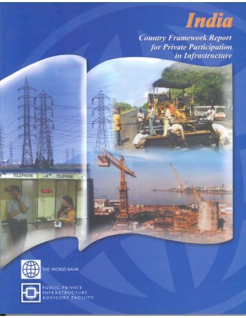 India Country Framework Report for Private Participation in - ppiaf