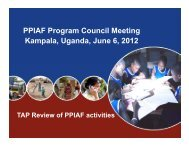 PPIAF Program Council Meeting Kampala, Uganda, June 6, 2012