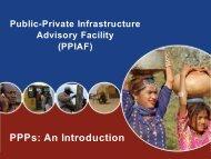 Public-Private Partnerships - ppiaf