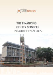 THE FINANCING OF CITY SERVICES IN SOUTHERN AFRICA - ppiaf
