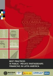 Best Practices in PPP Financing Latin America - e-Institute - World ...
