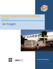 FREIGHT TRANSPORT FOR DEVELOPMENT TOOLKIT: Air ... - ppiaf