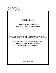 Power Sector Reform in Mongolia - ppiaf