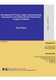 Development of Policy, Legal, and Insitutional Framework for - ppiaf