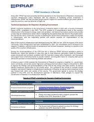 PPIAF Assistance in Rwanda