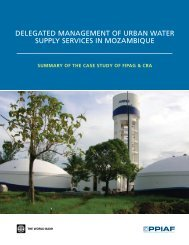 Delegated Management of Urban Water Supply Services in - ppiaf