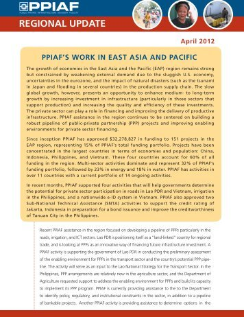 East Asia and the Pacific - ppiaf