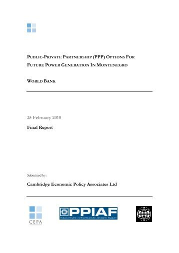 (PPP) Options for Future Power Generation in Montenegro - ppiaf