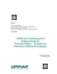 Análise do Arcabouço para a Implementação de Parcerias ... - ppiaf