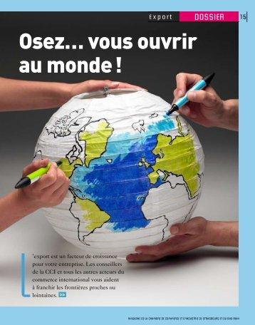 Osez… vous ouvrir au monde ! - (CCI) de Strasbourg et du Bas-Rhin