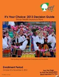 It's Your Choice 2013 - Decision Guide (ET-2128d-13) - ETF