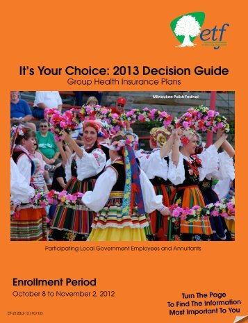 It's Your Choice 2013 - Decision Guide (ET-2128d-13) - ETF