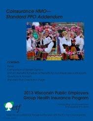 Coinsurance HMO— Standard PPO Addendum - ETF
