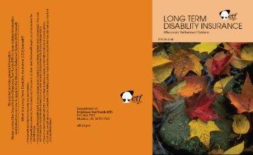 Long-Term Disability Insurance Folder (ET-5108) - ETF