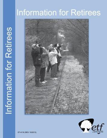 Information for Retirees Information for Retirees - ETF