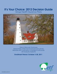 It's Your Choice: 2012 Decision Guide - ETF