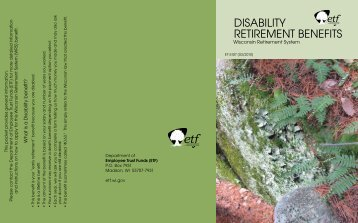 Disability Retirement Benefits Folder (ET-5107) - ETF