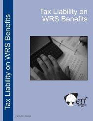 Tax Liability on WRS Benefits (ET-4125) - ETF