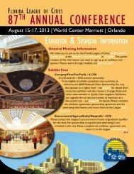 Exhibitor & Sponsor Information Kit - Florida League of Cities