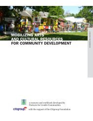 Mobilizing Arts and Cultural Resources for Community Development